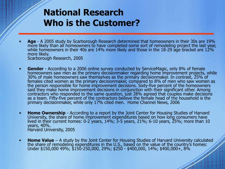 National research who is the customer