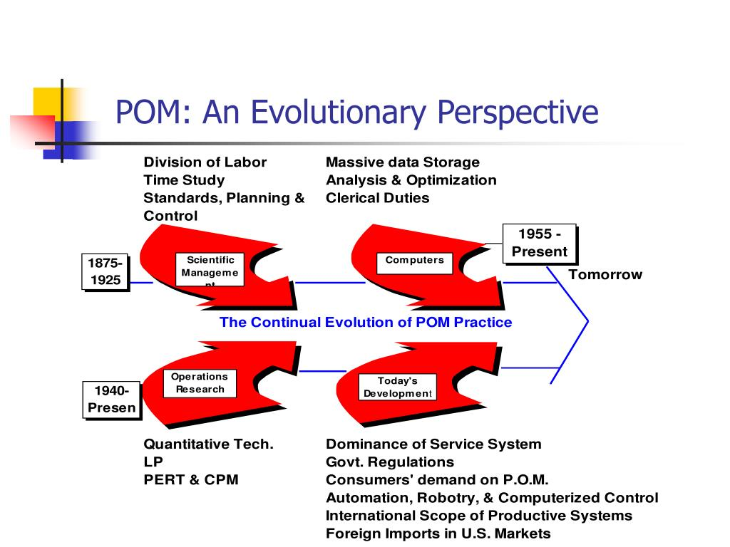 POM: An Evolutionary Perspective