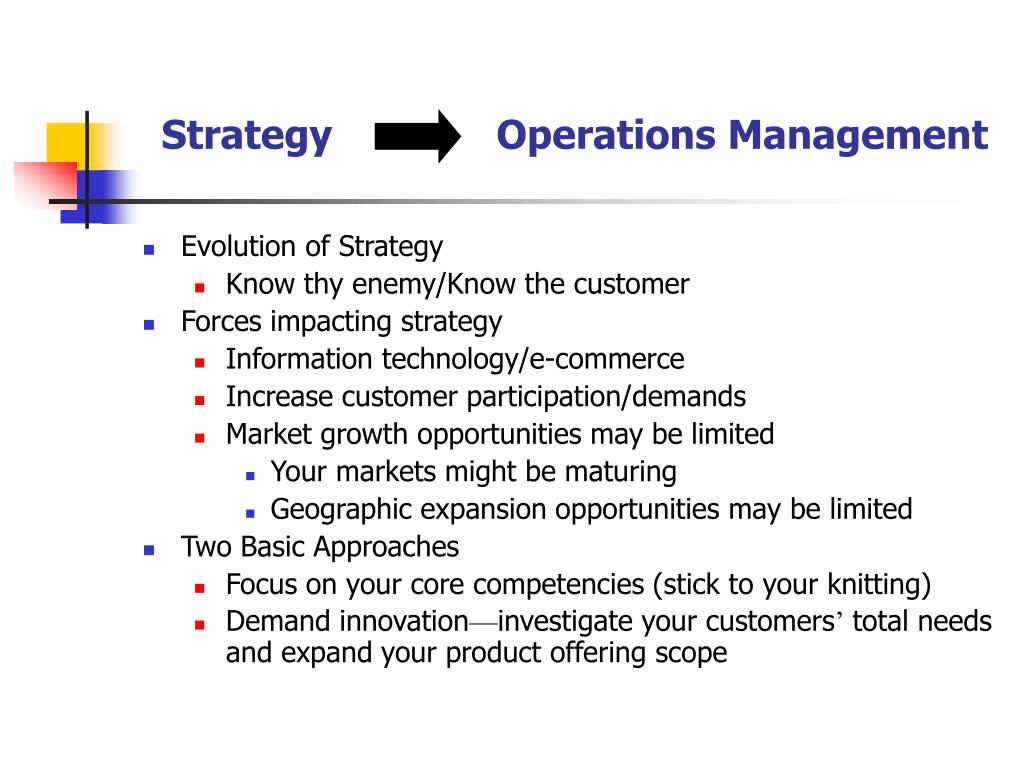 Strategy              Operations Management