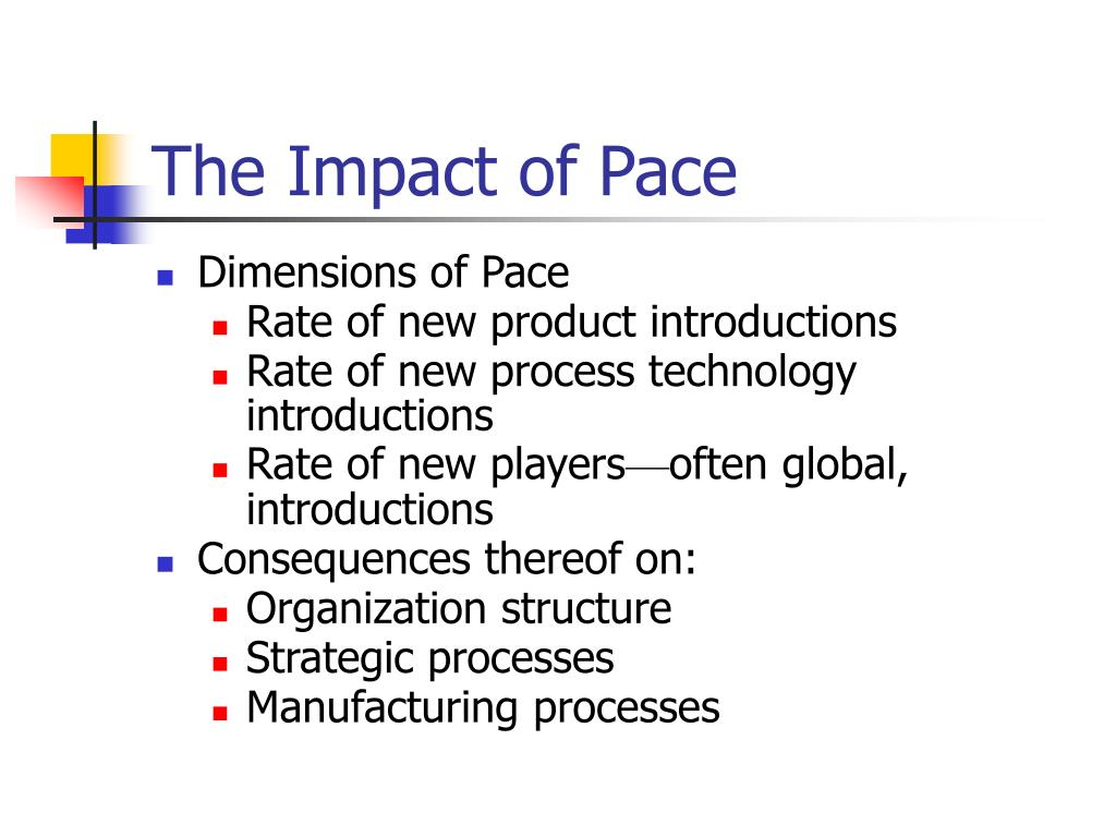 The Impact of Pace