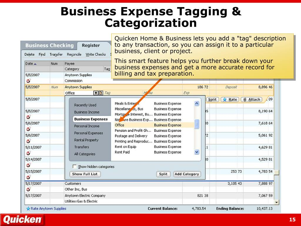 Business Expense Tagging & Categorization