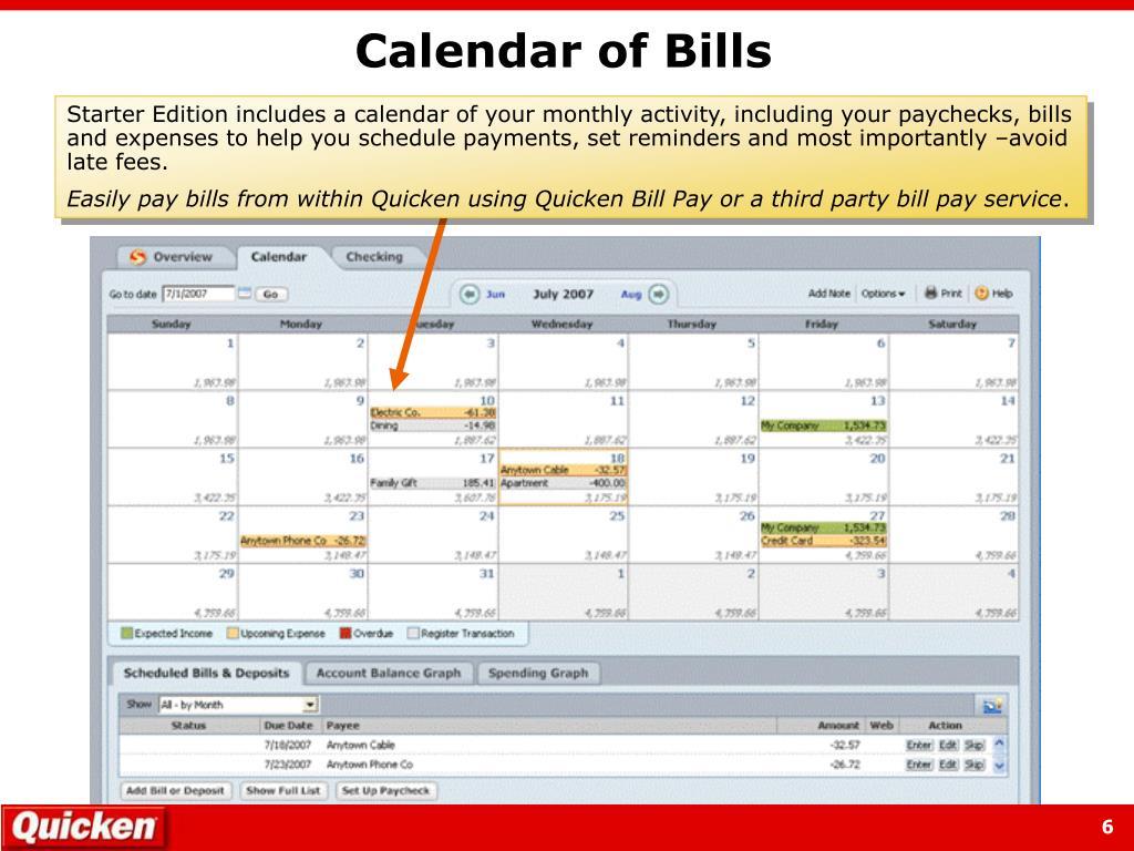Calendar of Bills