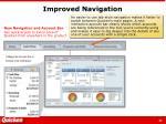 improved navigation