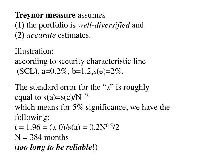 Treynor measure