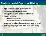 environmental exposure history
