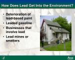 how does lead get into the environment
