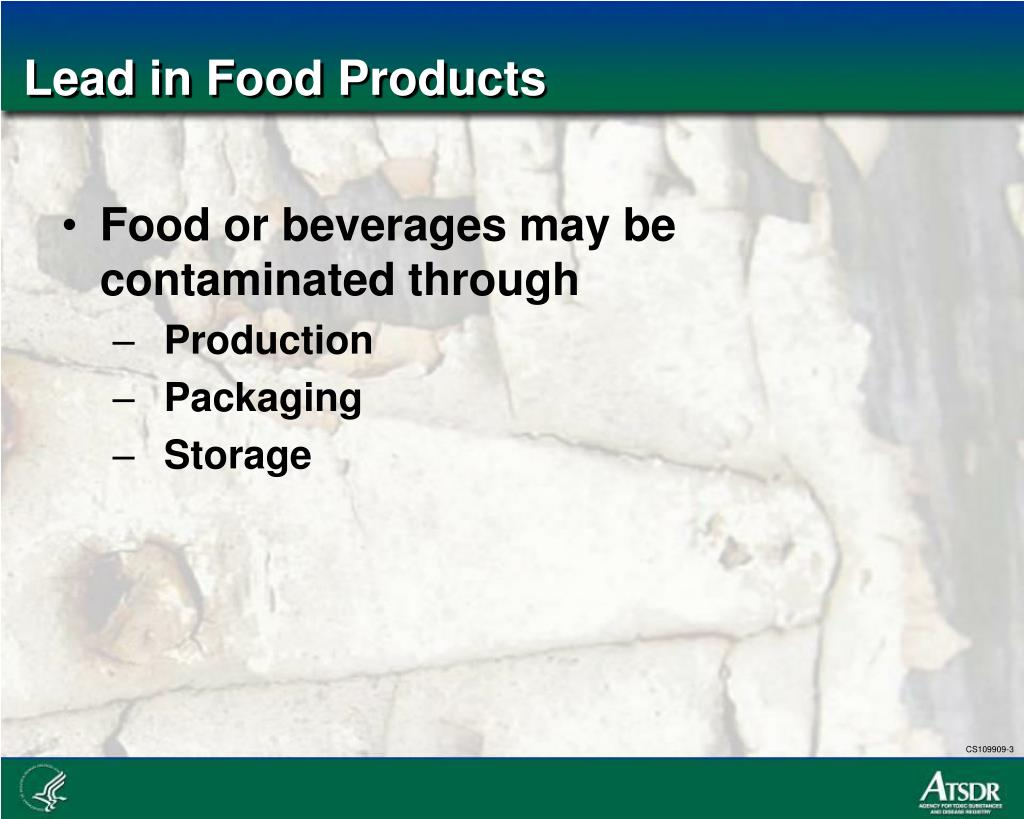 Lead in Food Products
