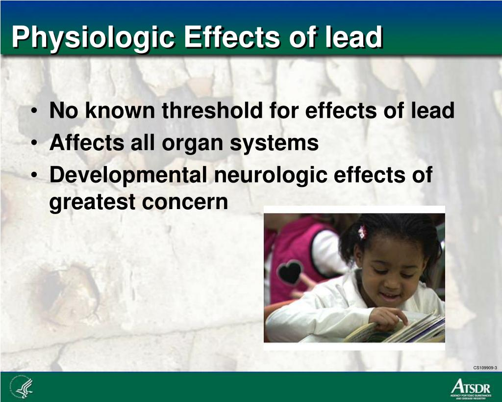 Physiologic Effects of lead