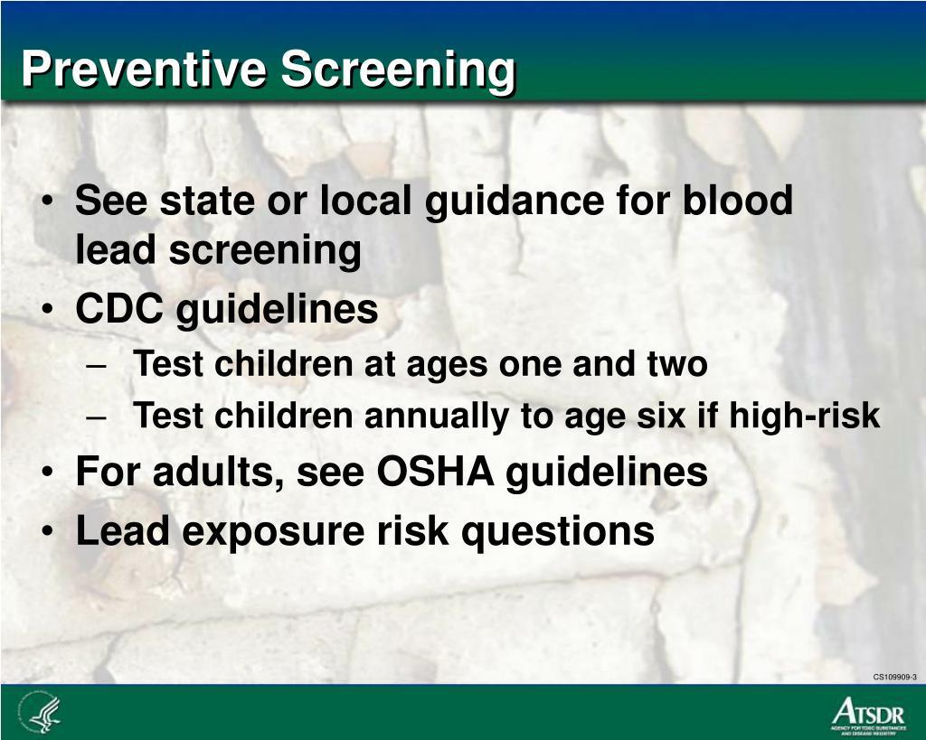 Preventive Screening