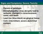 signs and symptoms severe toxicity