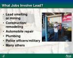 what jobs involve lead