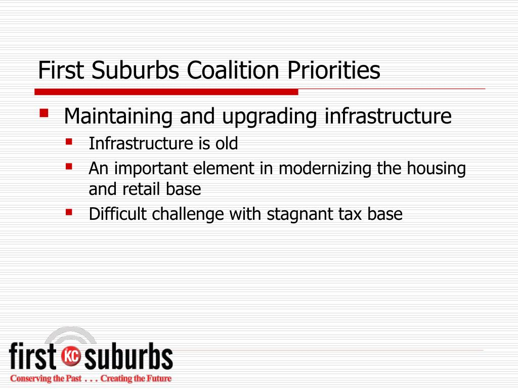 First Suburbs Coalition Priorities