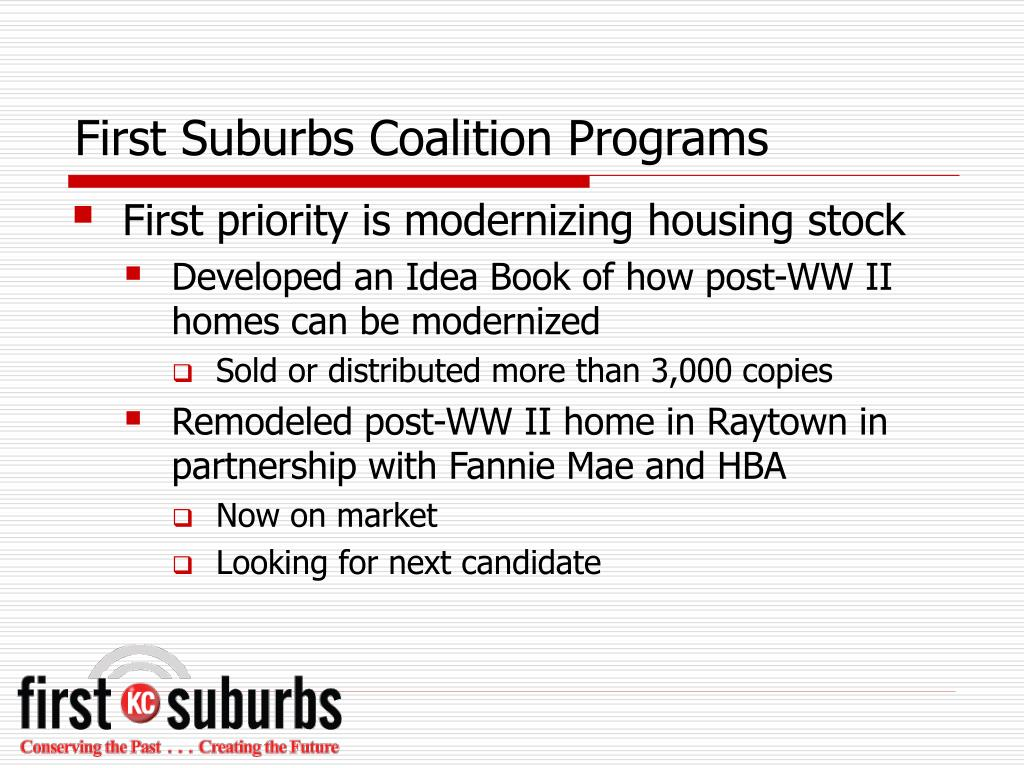First Suburbs Coalition Programs