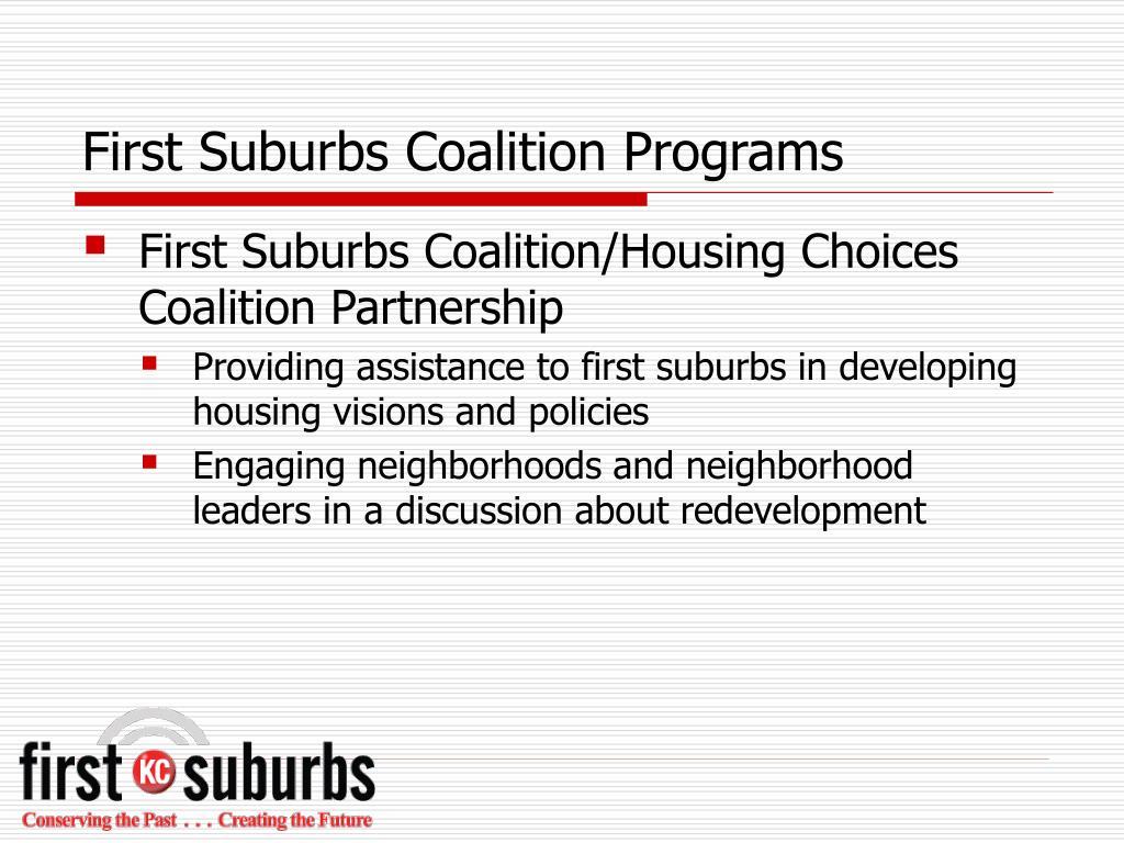First Suburbs Coalition Programs