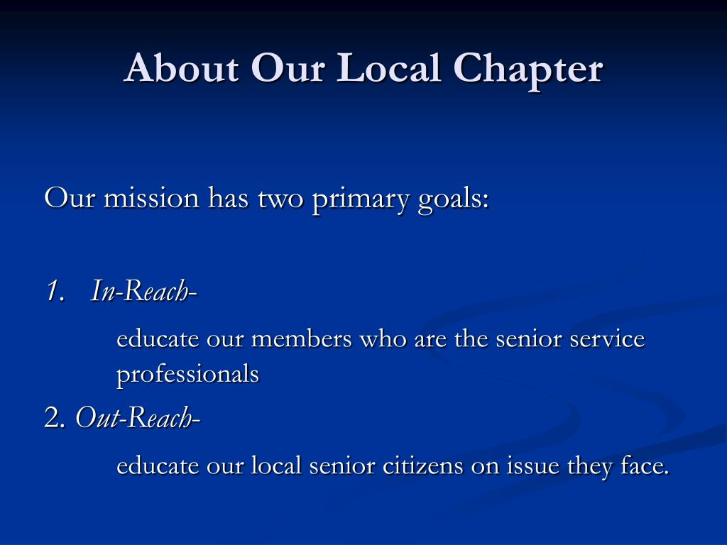 About Our Local Chapter