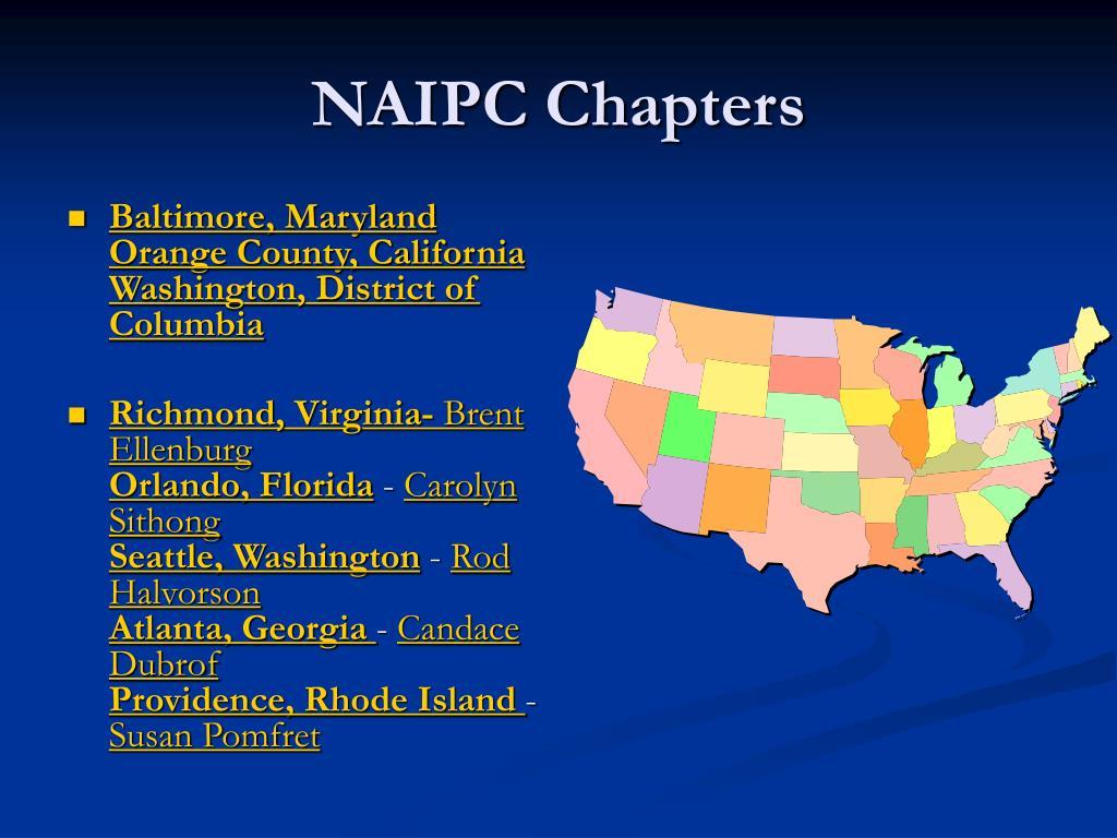 NAIPC Chapters