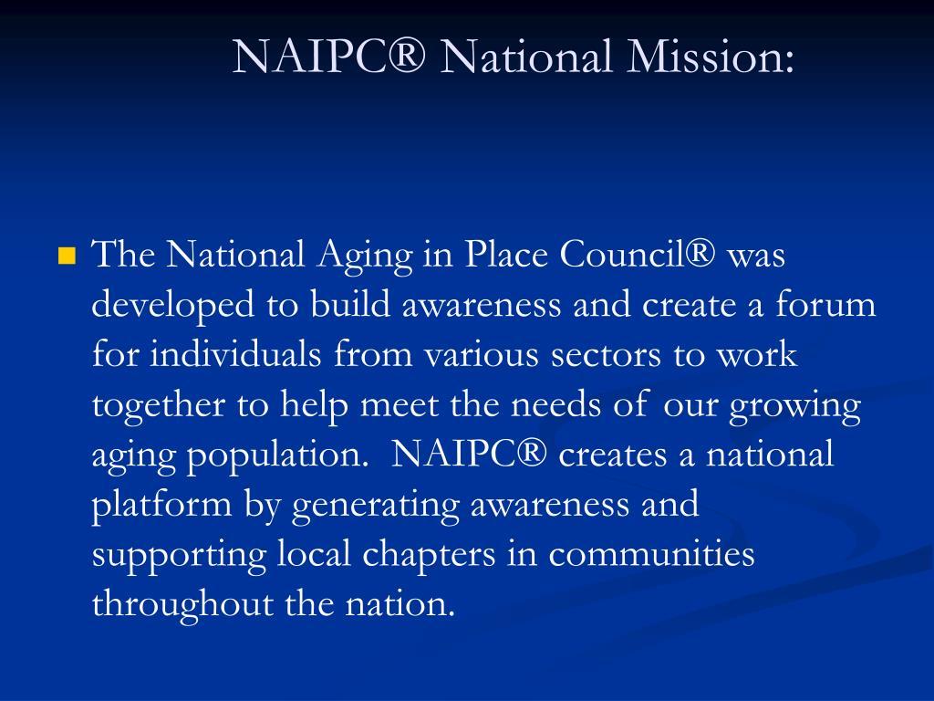 NAIPC® National Mission:
