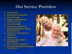 our service providers