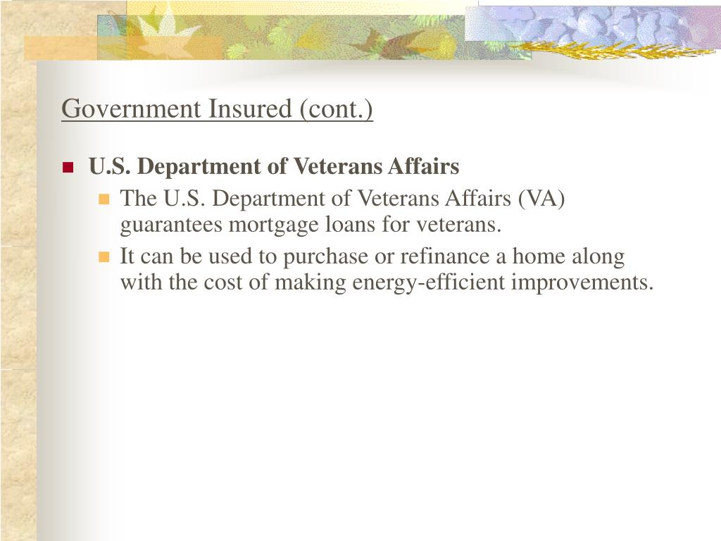 Government Insured (cont.)