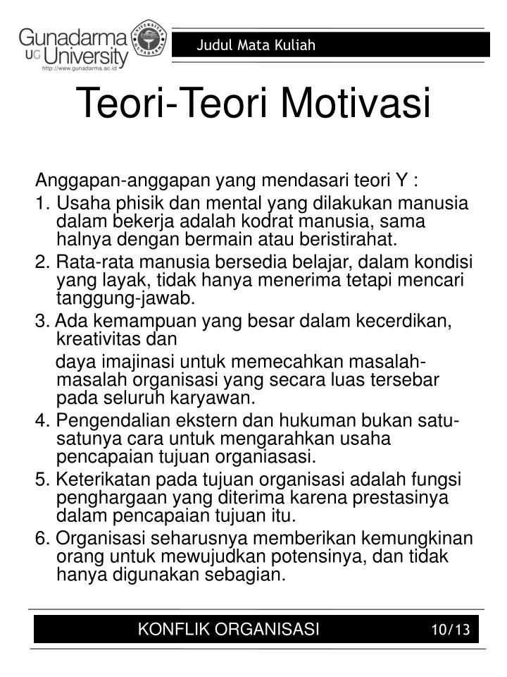 Teori-Teori Motivasi