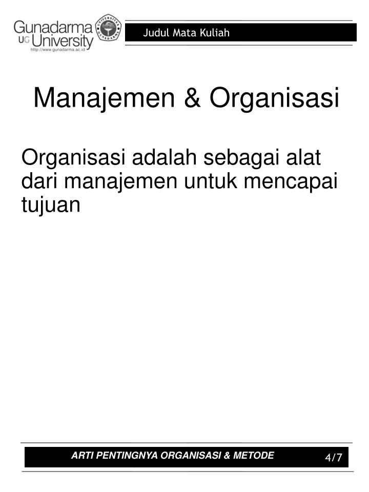 Manajemen & Organisasi