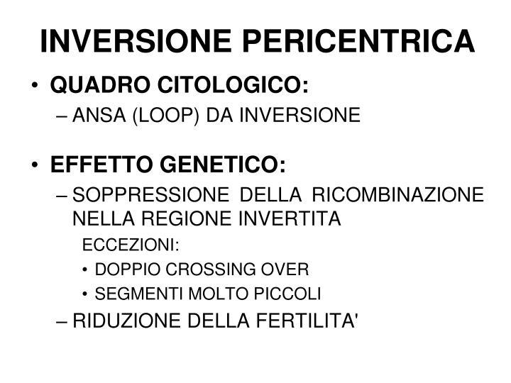 INVERSIONE PERICENTRICA