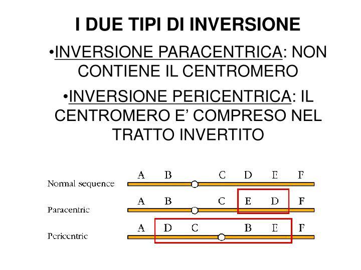 I DUE TIPI DI INVERSIONE
