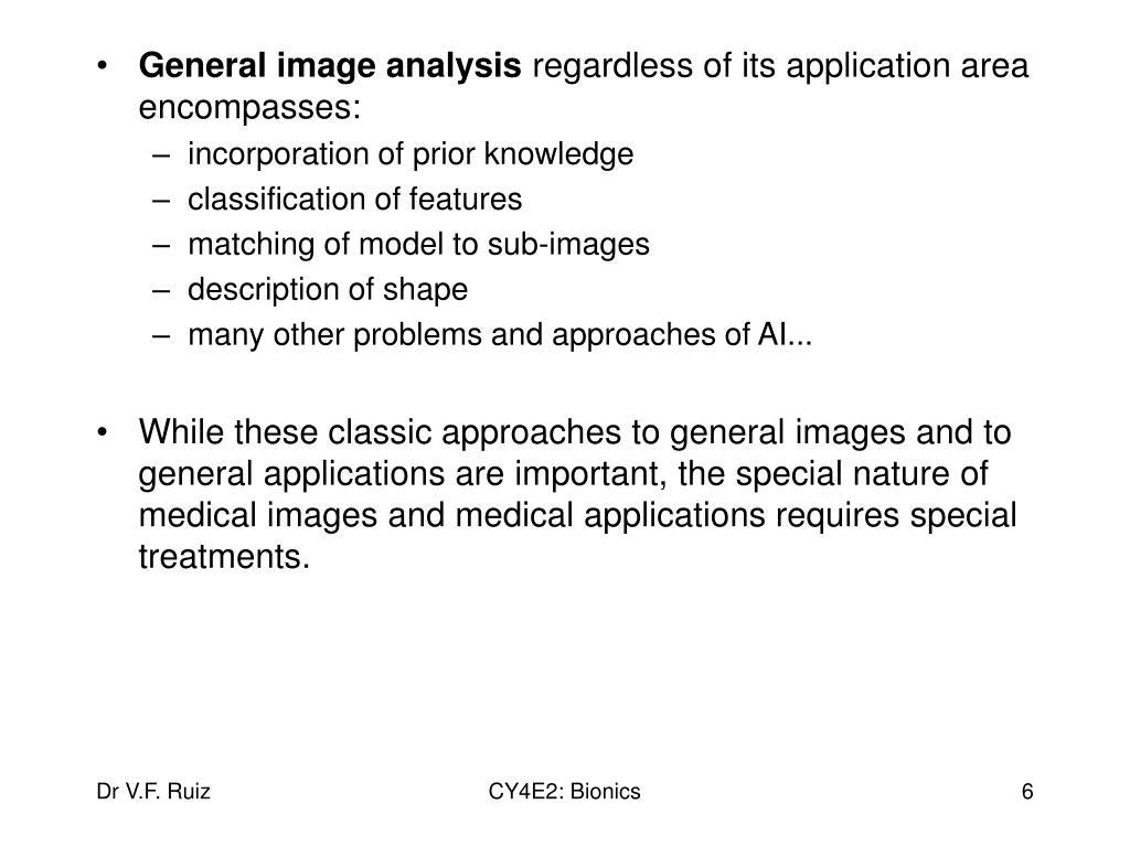 General image analysis