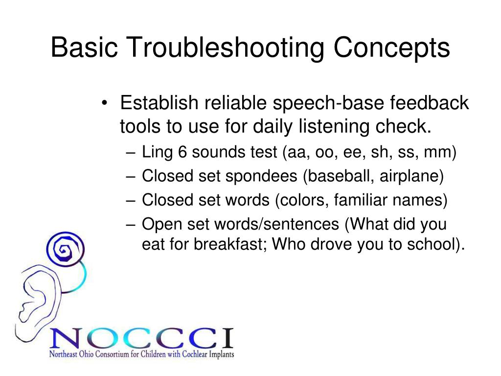 Basic Troubleshooting Concepts