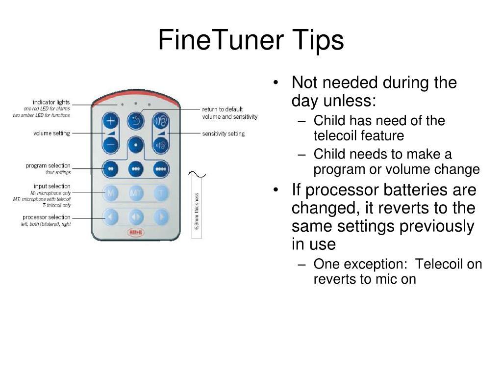 FineTuner Tips