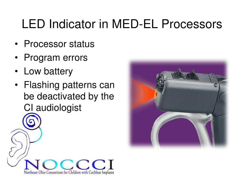 LED Indicator in MED-EL Processors