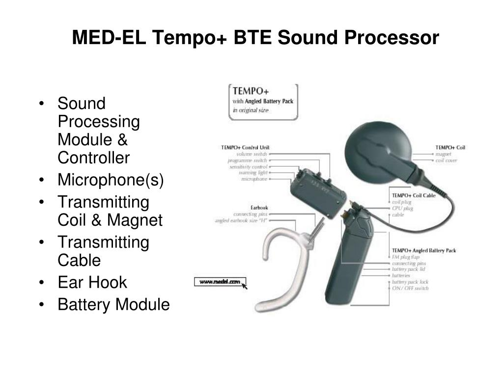 MED-EL Tempo+ BTE Sound Processor