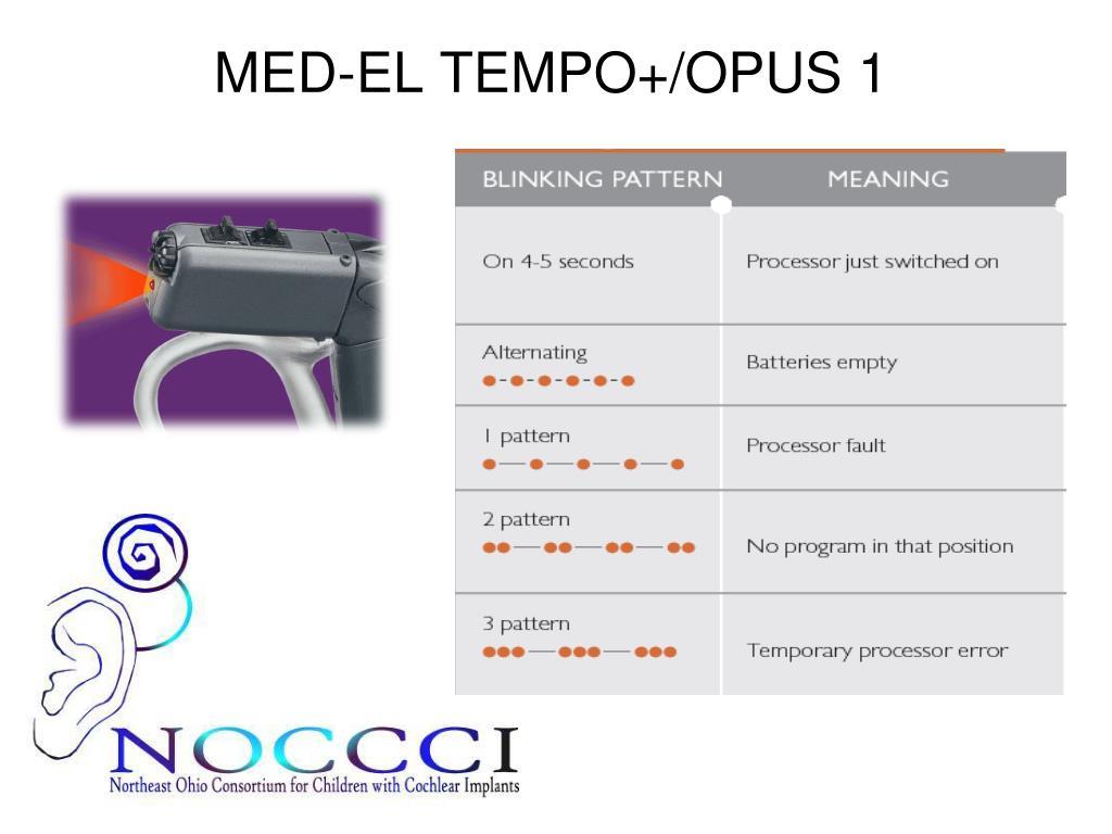 MED-EL TEMPO+/OPUS 1