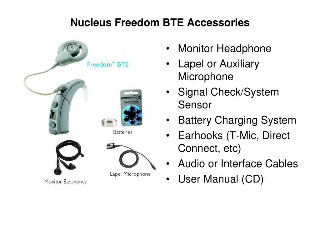 Nucleus Freedom BTE Accessories