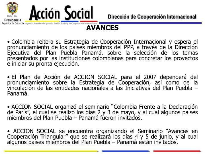 Dirección de Cooperación Internacional