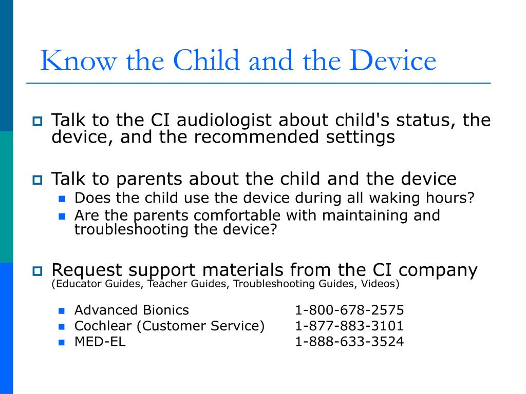 Know the Child and the Device