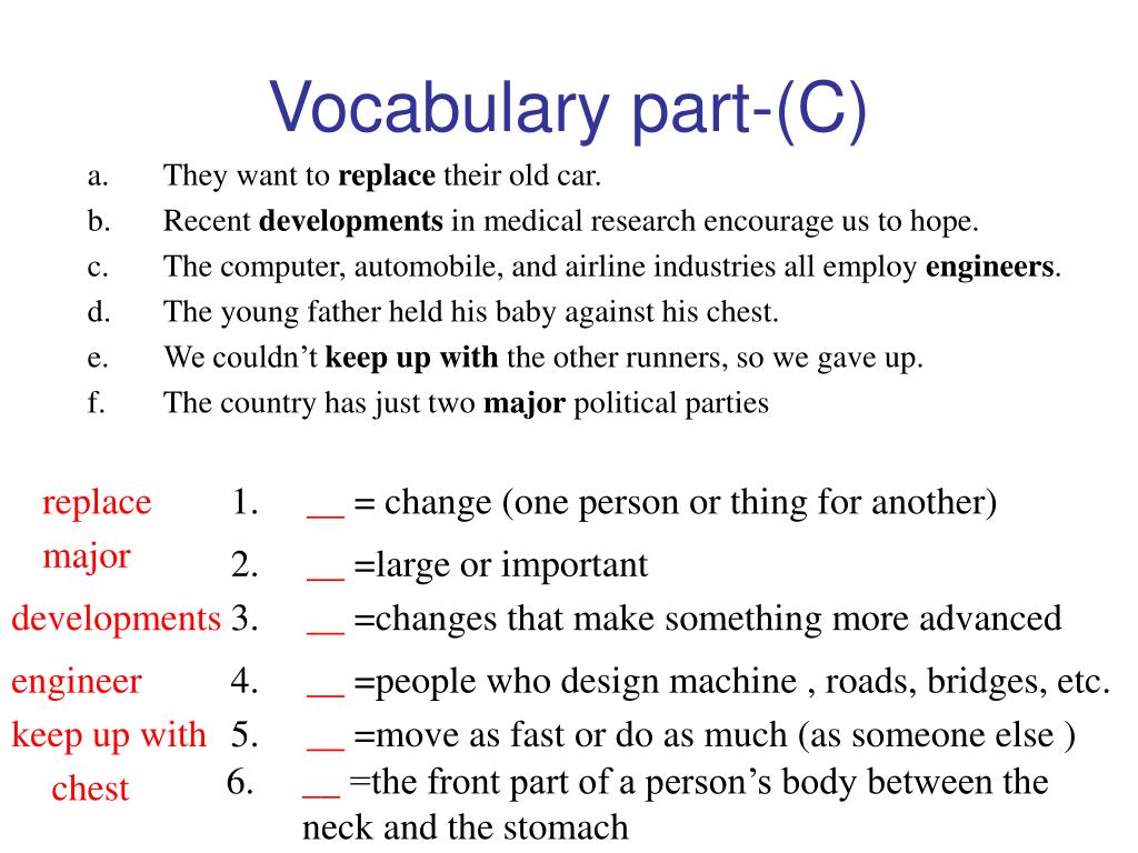 Vocabulary part-(C)