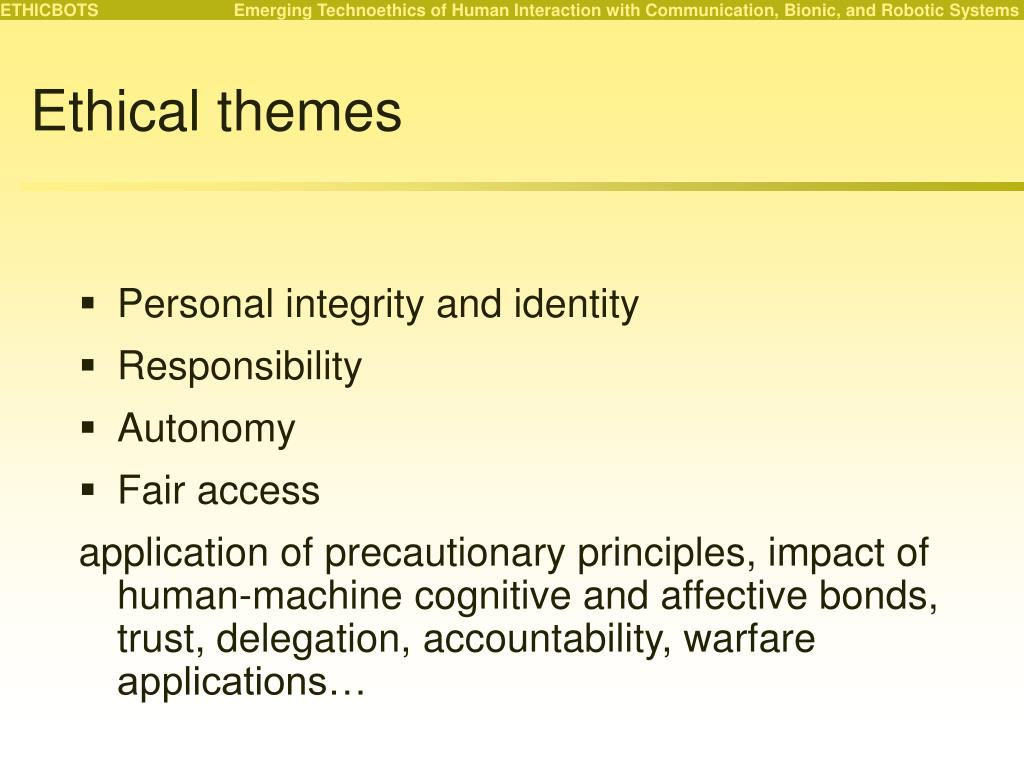 Ethical themes