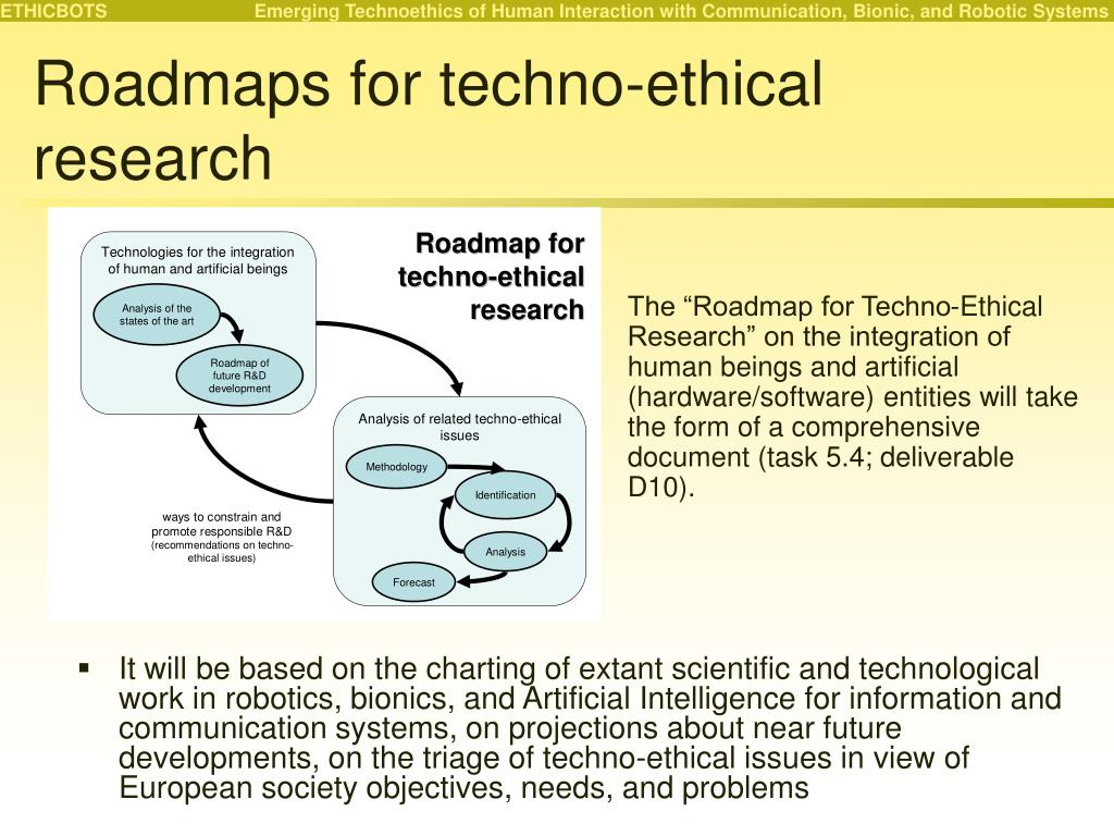 Roadmaps for techno-ethical research