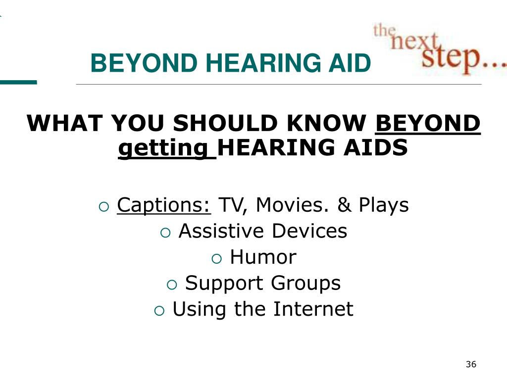 BEYOND HEARING AIDS