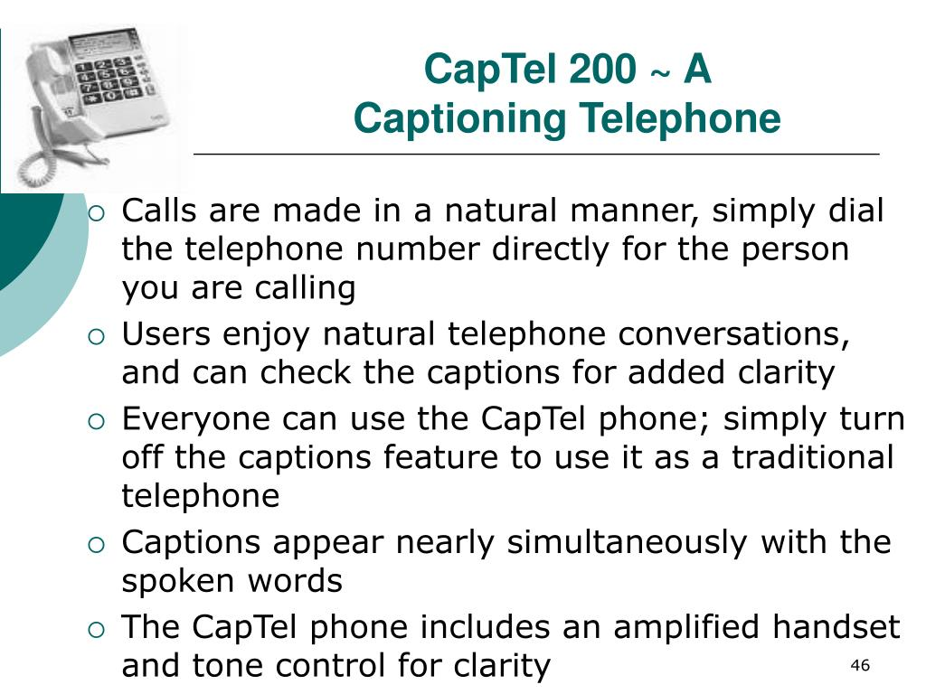 CapTel 200 ~ A Captioning Telephone