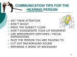 communication tips for the hearing person