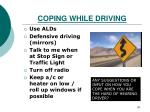 coping while driving