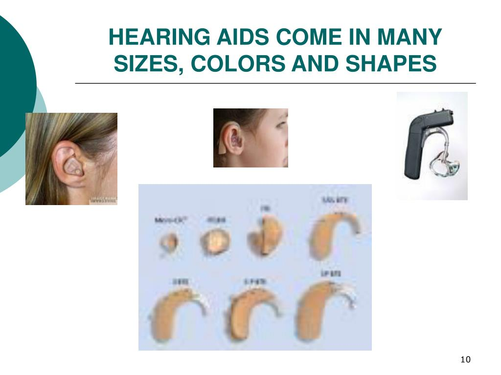HEARING AIDS COME IN MANY
