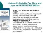 lifetone hl bedside fire alarm and clock with lifetone bed shaker