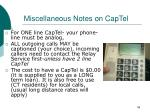 miscellaneous notes on captel