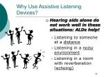 why use assistive listening devices