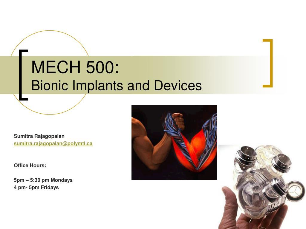 MECH 500: