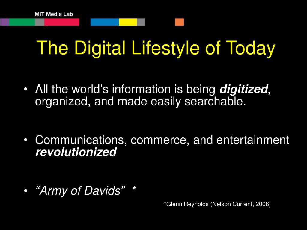 The Digital Lifestyle of Today