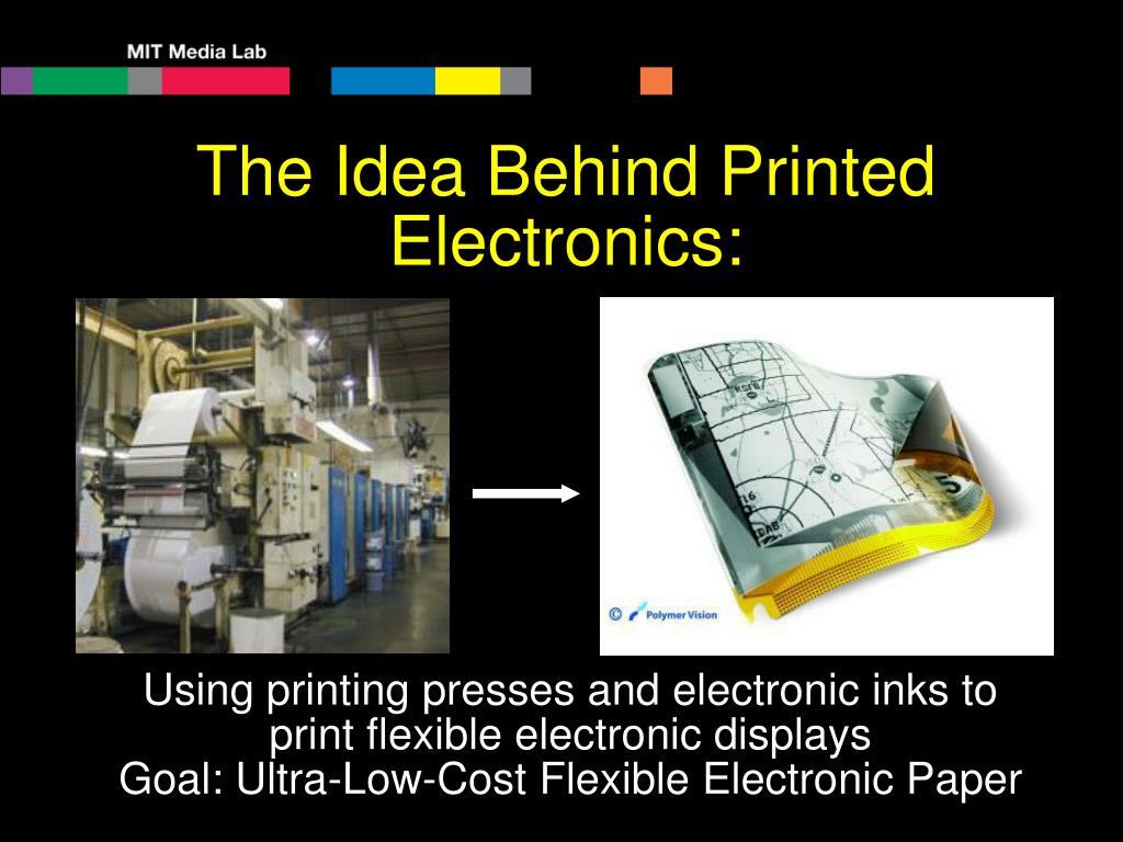 The Idea Behind Printed Electronics: